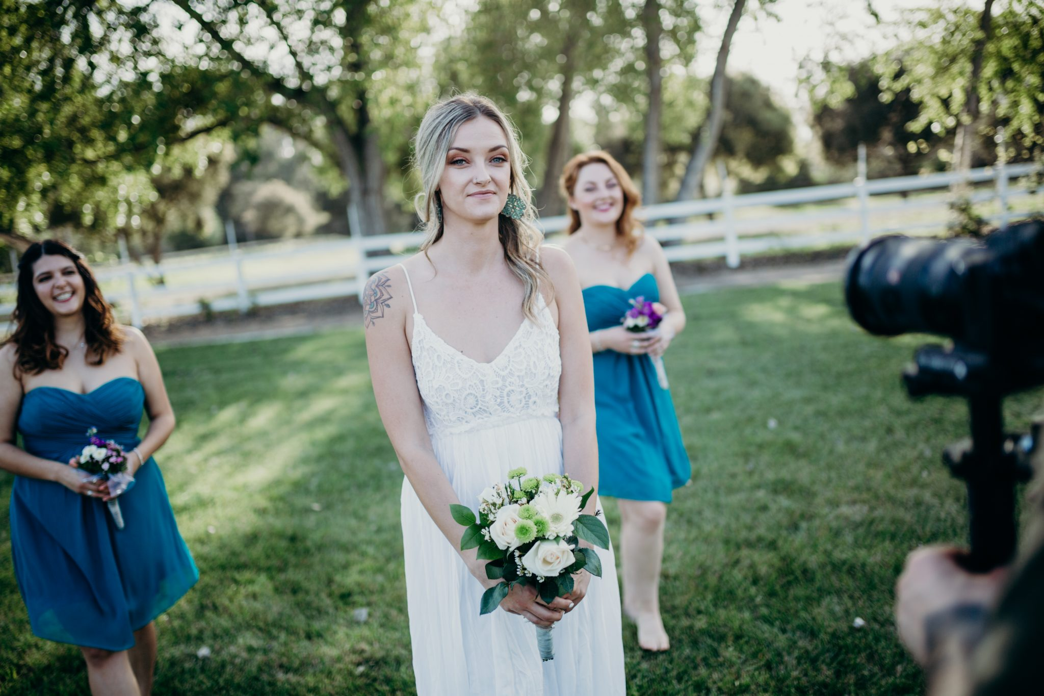 One of our talented videographers capturing the bride and her bridesmaids on her wedding day. It's an honor for us to be able to capture your perfect day.